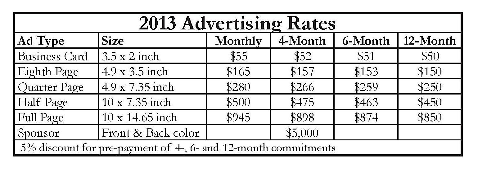 ad rate table