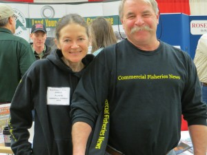 Janice with Richard Morey at the 2012 Maine Fishermen's Forum. Photo by Lorelei Stevens.