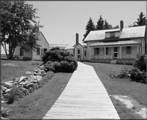 The carefully refurbished keeper's house and other buildings give a sense of what life was like on a small island years ago. DMR photo.