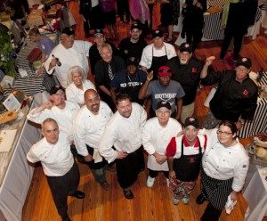 "The Boothbay Harbor ""Claw Down"" chefs brought out the lobster fans. And the chefs had a good time as well! Photo courtesy of MLPC."
