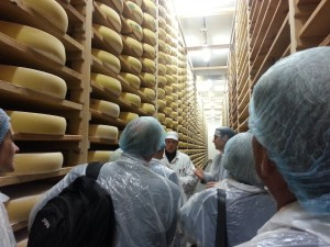 """French cheesemakers, such as this Comté cheese maker from the Franch- Comté region of the country, adhere to strict standards for the use of regional names. The French government works to protect those names at home and abroad. Photo courtesy of Jason Joyce."