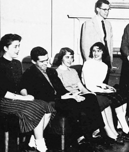 At the University of Maine in 1958, Hall, second from left, served as president of the honorary German Society. University of Maine photo.