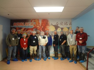 The Institute participants took a comprehensive tour of the Royal Star processing plant in Tignish, PEI. The facility is owned by a local fishermen's co-operative. MLCA photo.