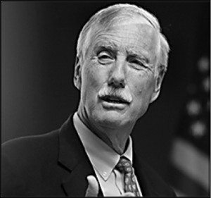 Maine Senator Angus King serves on the Senate Energy and Natural Resources Committee.  Photo courtesy of A. King.
