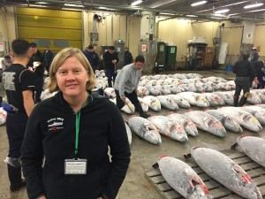 Deirdre Gilbert spent a very early morning at the world's largest fish market. Photo courtesy of D. Gilbert.
