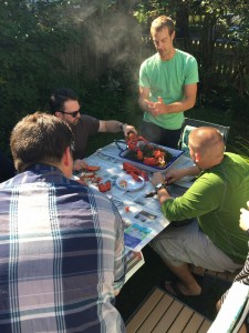 Seaver conducted a new-shell, old-shell taste test for chefs at his home this fall. MLMC photo.