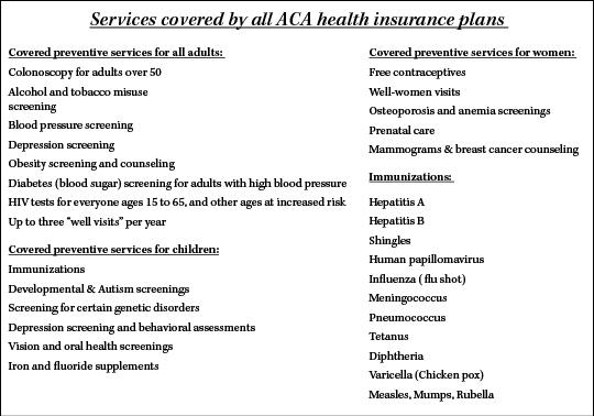ACA services