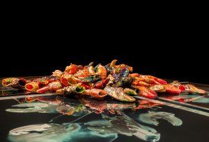 Glassblown lobster claws